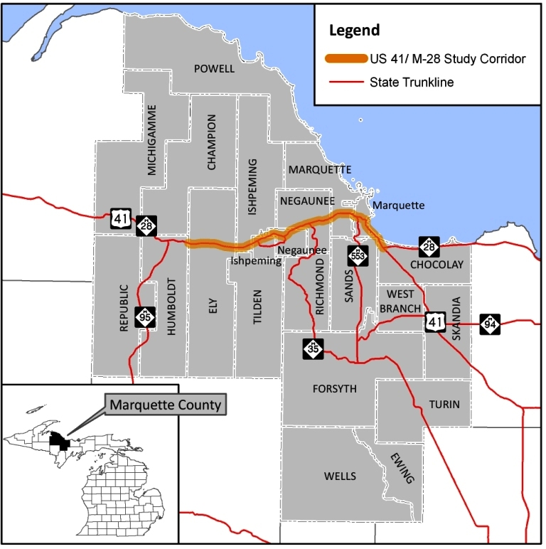 Marquette County  US41M28 Access Management Plan