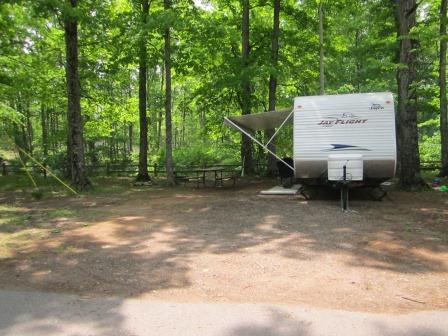 Marquette County Full Hook Up Campsite Photos