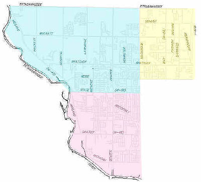 Saginaw Township Police Department- Districts