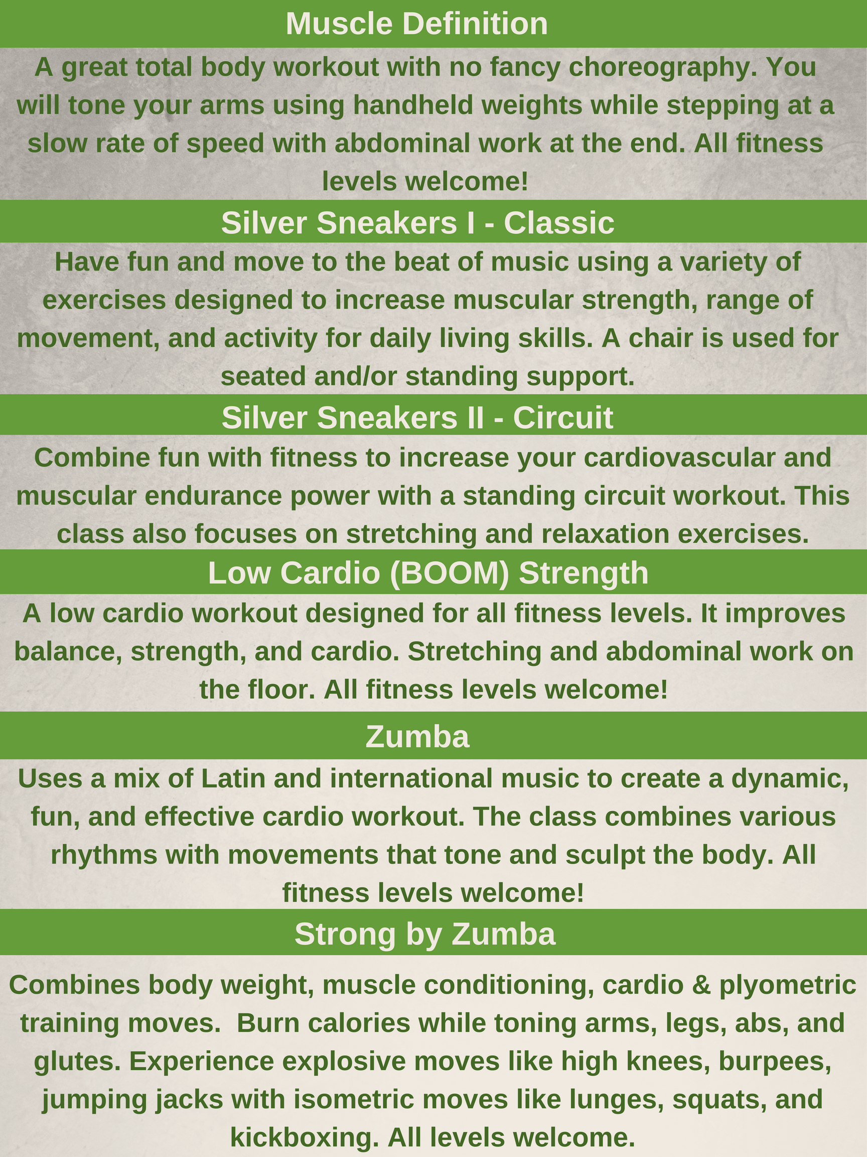 092818 - Fitness class descriptions - updated for fall winter (1)