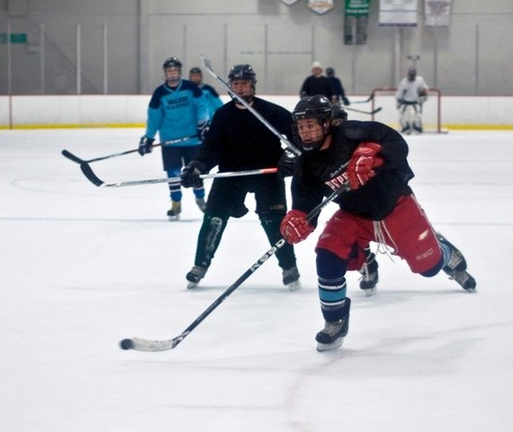 adult hockey game